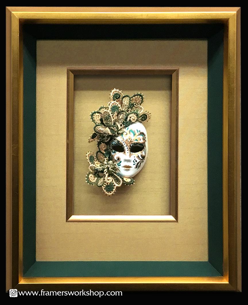 The Framer\'s Workshop, Berkeley CA:Porcelain Doll\'s Mask in a Deep ...