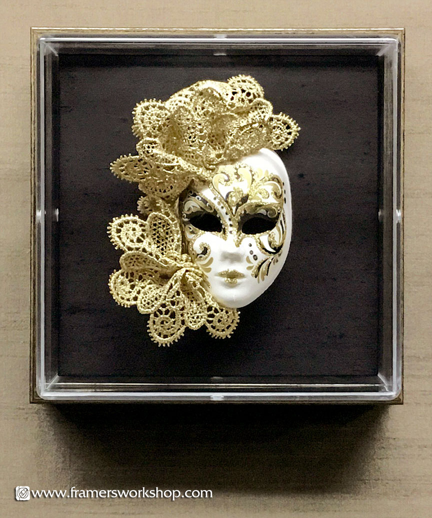 The Framer\'s Workshop, Berkeley CA: Porcelain Doll\'s Mask in an ...