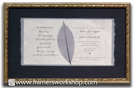 celebration framing at the framer's workshop, berkeley, ca 94704, Wedding invitations