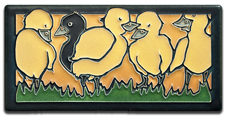 Yoshiko Yamamoto Motawi Tile _Ugly Duckling_ _Golden_
