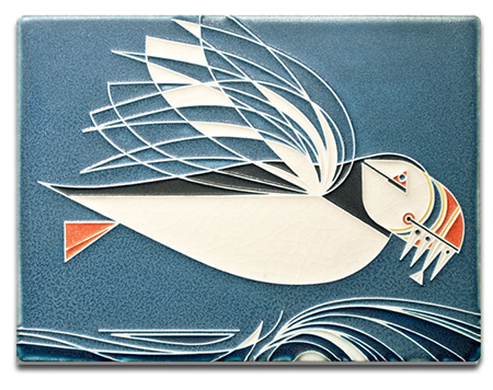 New Motawi Tile_ Charley Harper _Puffin_