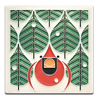 Charley Harper _Coniverous Cardinal_