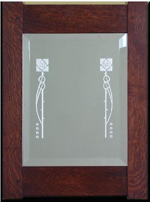 Dard Hunter design Etched Mirror