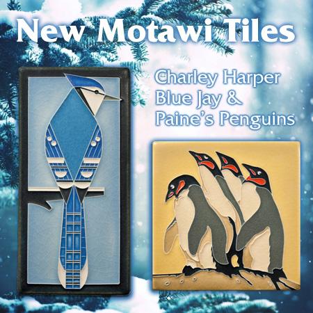 New Motawi Tiles Charley Harper Blue Jay _ Paine_s Penguins