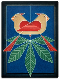Charley Harper Design Motawi Tile Cardinals Consorting _Female_