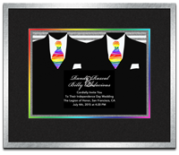 Framed Gay Wedding Invitration