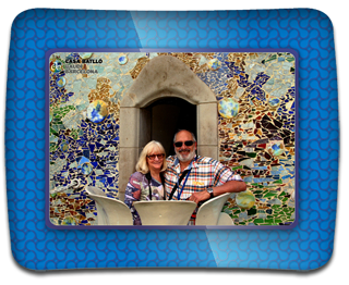 Kirstie & Jeff at Gaudi's Cassa Batillo in a PRISMA frame