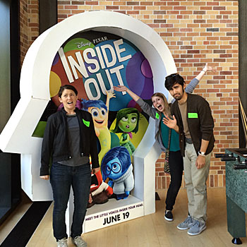 Susan, Sam and Dana at Pixar