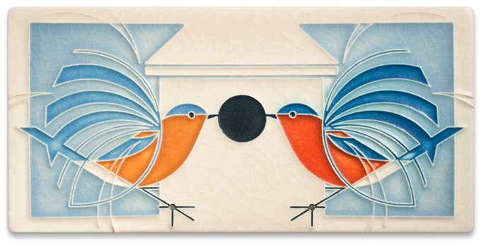 Home Coming Motawi Tile by Charley Harper