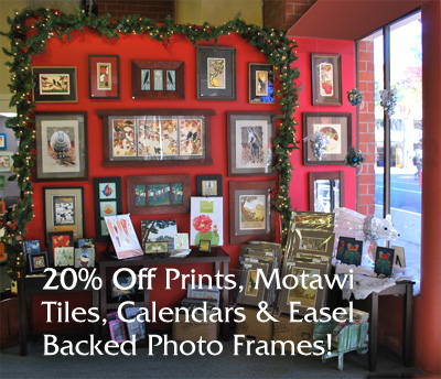 20_ Off Prints_ Motawi Tiles_ Calendarsf_ and Easel Backed Photo Frames