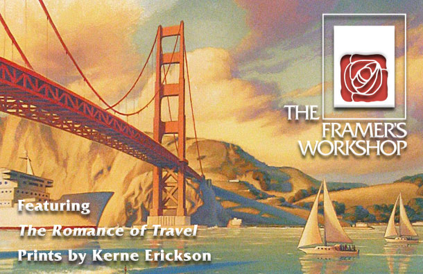 Featuring The Romance of Travel, Prints by Kerne Erickson