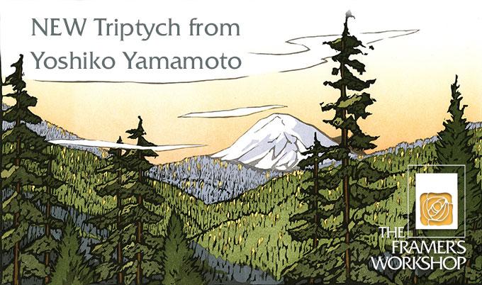 NEW Yoshiko Yamamoto Triptych _Mt Rainer White Pass_