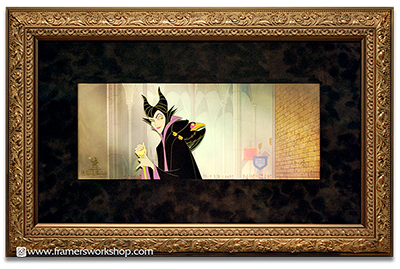 Framed Malificent Animation Cell