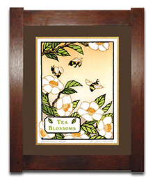 Tea Blossoms _Loam Mat _ Dard Hunter Frame_