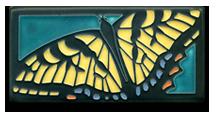 Swallowtail Turquoise Motawi TIle