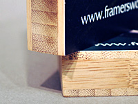 Bamboo Plaque Mounting Edge Close-up