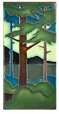 Motawi Tile _Pines Landscape_ _vertical_