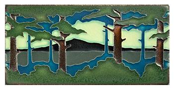 Motawi Tile _Pines Landscape_ _horizontal_