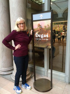 Kirstie at the Degas Exhibition, Art Institute of Chicago