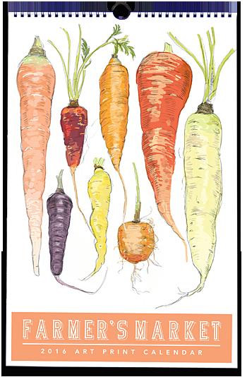 2016 Farmer's Market Calendar by Rigel Stuhmiller
