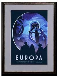 Framed EUROPA NASA_JPL Poster