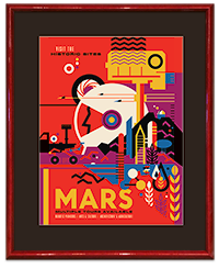 Framed MARS NASA_JPL Poster