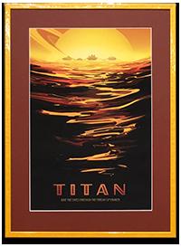 Framed TITAN NASA_JPL Poster