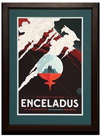 Framed ENCELADUS NASA_JPL Poster