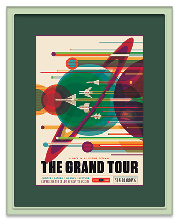 Framed _The Grand Tour_ NASA_JPL Poster in a Prisma Frame