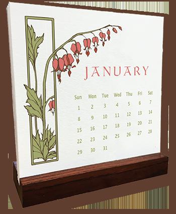 Pre-Order Yoshiko Yamamoto_s 2017 Letterpress Calendar Now