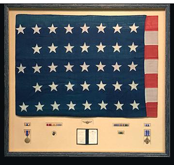 Framed 38 Star American Flag
