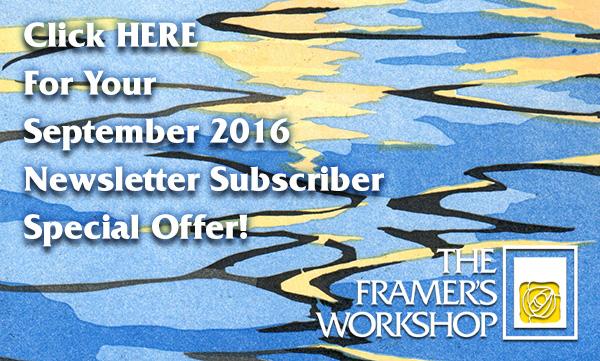 Click HERE for Your September 2016 Newsletter Subscriber Special Offer_