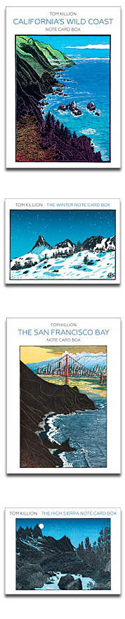 Boxed note card sets by Tom Killion