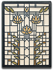 Motawi Tile _Waterlillies_ _Cream_ by Frank Lloyd Wright