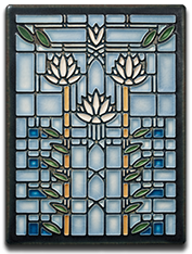 Motawi Tile _Waterlillies_ _Light Blue_ by Frank Lloyd Wright