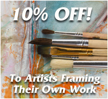 10_ OFF To Artists Framing Their Own Work