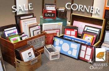 Sale Corner at The Framer_s Outlet