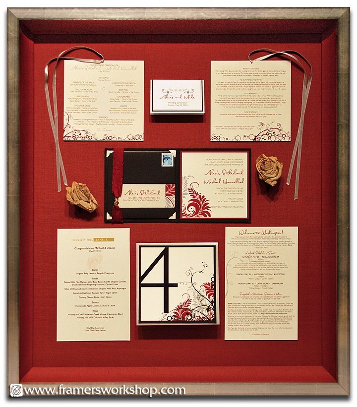 Framed Wedding  Anouncement