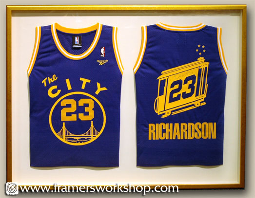The framers workshop berkeley ca framing example of golden state framing of double golden state warriors jersey solutioingenieria Choice Image