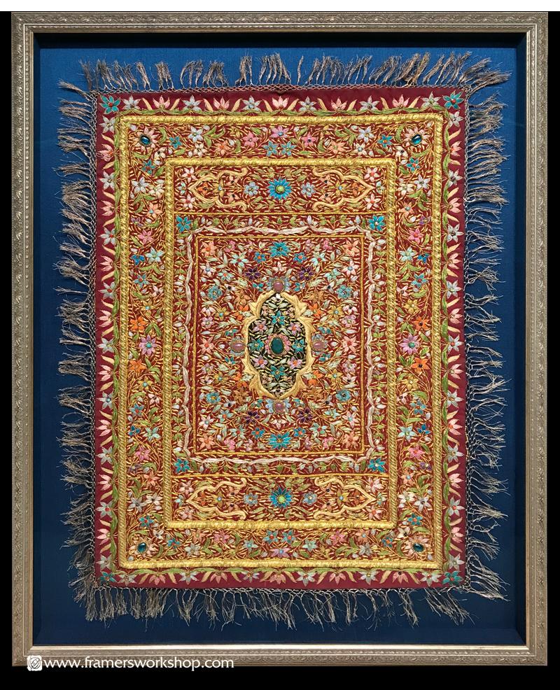 The Framer's Workshop, Berkeley Ca: Indian Embroidery Framed in an