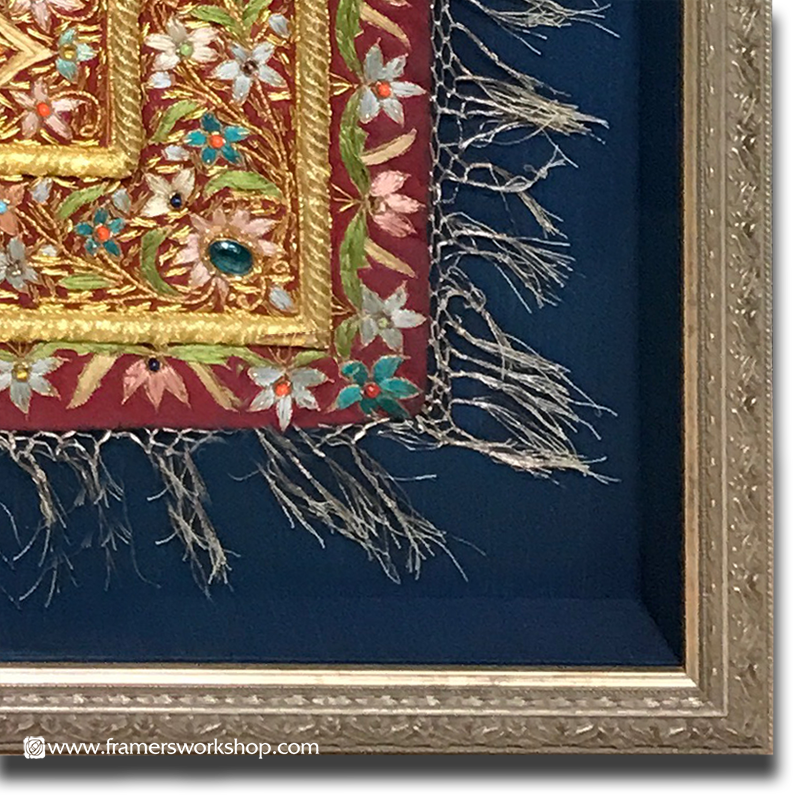The Framer's Workshop, Berkeley Ca: Indian Embroidery Framed in an