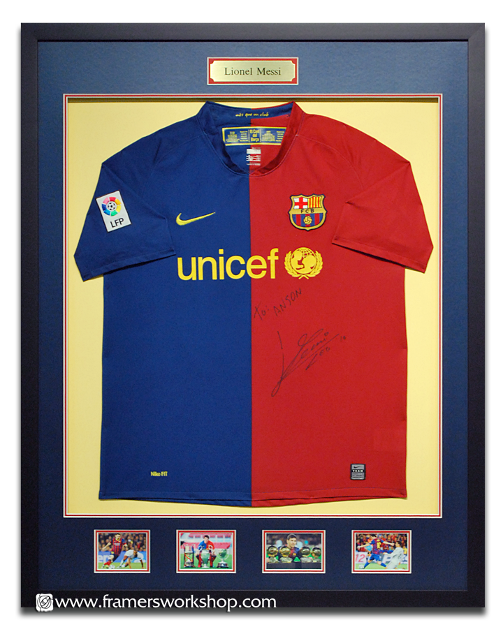 The Framer\'s Workshop, Berkeley, CA. - Framed Likonel Messi Sports ...