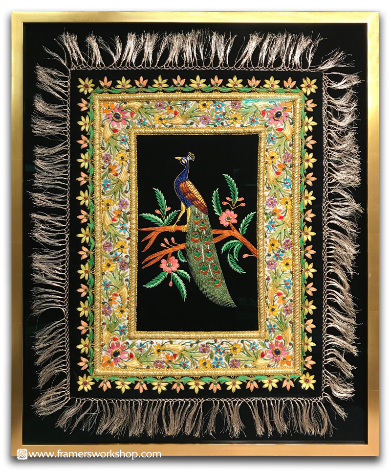 The Framer's Workshop, Berkeley Ca: Framed Zardosi Embroidered