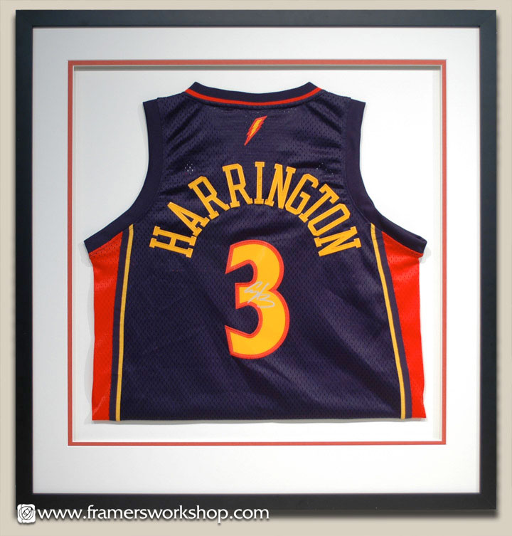 The framers workshop berkeley ca framed basketball jersey example herrington jersey floated and matted solutioingenieria Choice Image