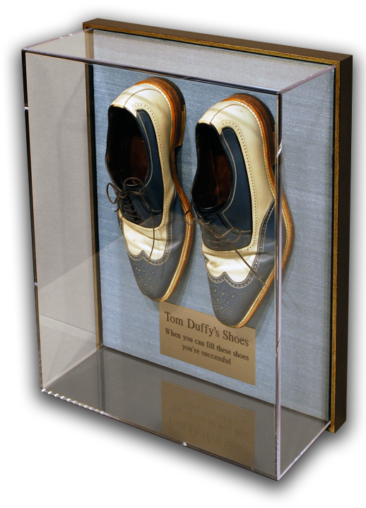Tom Duffy Shoes in Acrylic Box