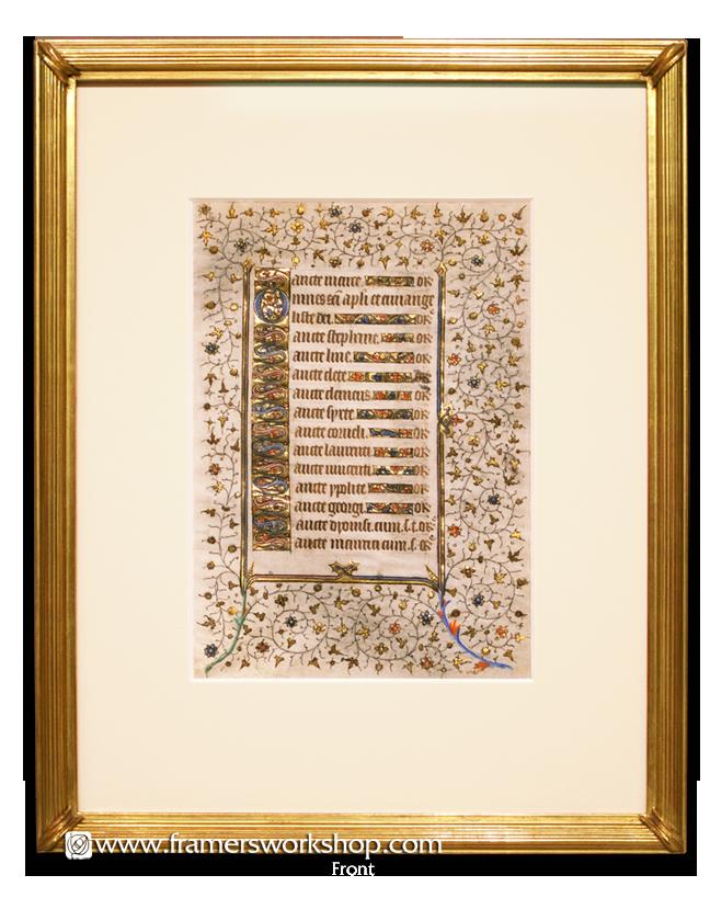 The Framer\'s Workshop, Berkeley, CA Framed Book of Hours Illuminated ...