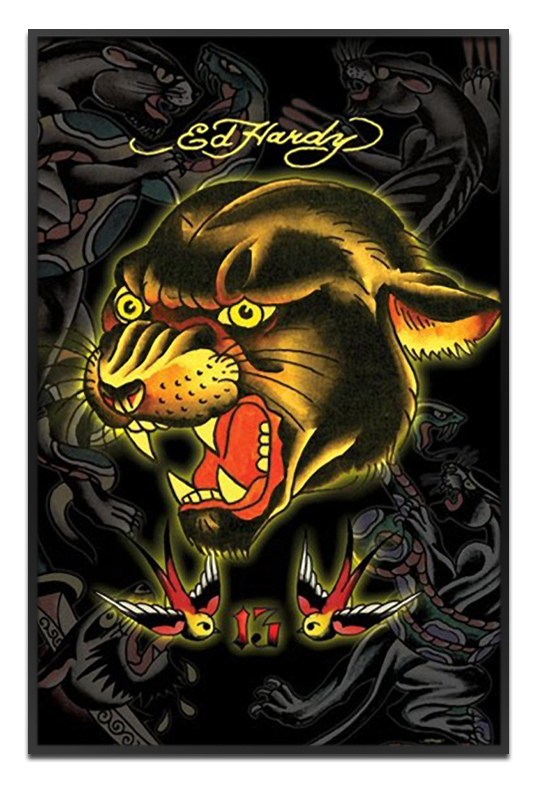 The Framer's Workshop Art Prints & Tiles: Ed Hardy: Black Panther