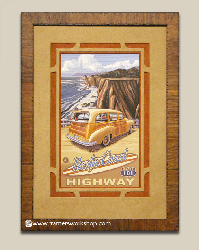 Paul Lanquist Pacific Coast Highway Poster At The Framers Workshop