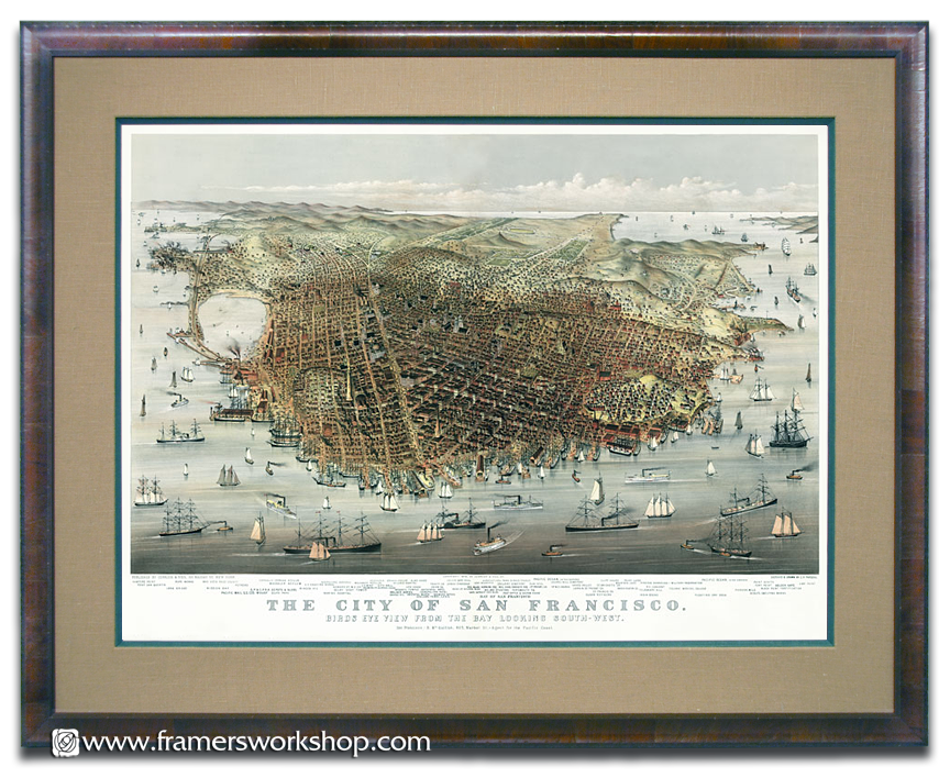 san francisco 1878 framed map