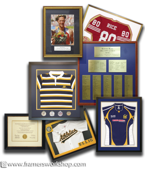 The framers workshop berkeley ca 94704 sports jersey discount the framers workshop sports jersey athletic certificate and award framing solutioingenieria Images